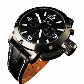 Youyoupifa Men Sport Quartz Wrist Watch Black Band Dial Japan Movt