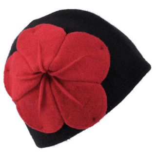 Journee Collection Womens Wool Flower Accent Bucket Hat