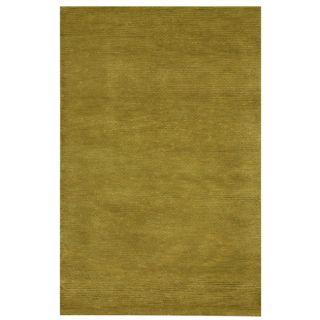 Hand woven Bosstyn Olive Green Wool Blend Rug (8 x 11)