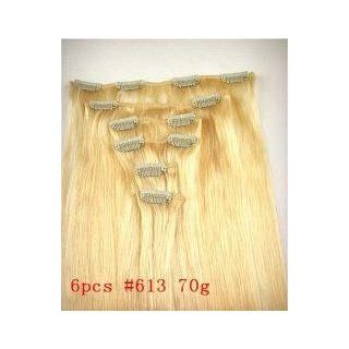 14 Piece Silky 100% Human Hair 140 Grams 20 Clip in Extensions Two