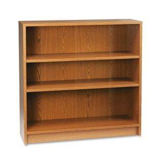 HON 1870 Series Medium Oak 3 shelf Laminate Bookcase