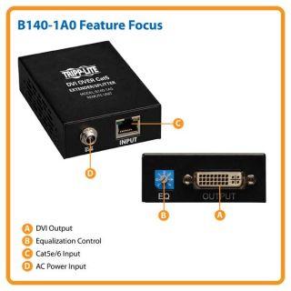 Tripp Lite B140 1A0 DVI Over Cat5 Active Extender Remote Unit TAA/GSA