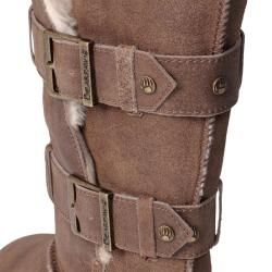 Bearpaw Womens Taylor Suede Sheepskin lined Buckled Boots
