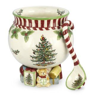 Spode Christmas Tree Peppermint 140 Ounce Footed Punch
