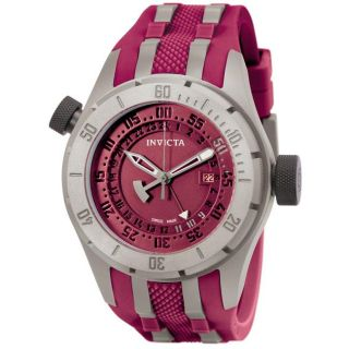 Invicta Mens Force Maroon Polyurethane/ Titanium GMT Watch