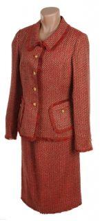 George Simonton Tweed Suit with Fringe Trim
