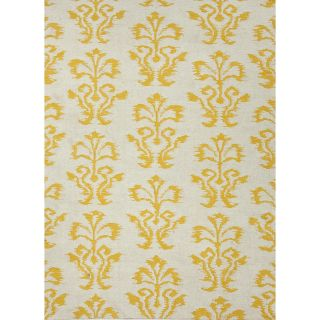 Flat Weave Floral Gold/ Yellow Wool Rug (5 x 8) Today $218.99 3.0