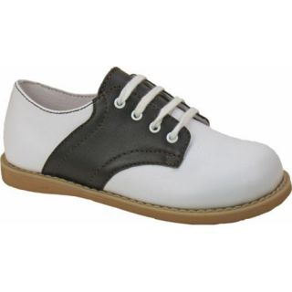 Boys Willits Chris Saddle White/Brown Saddle Leather