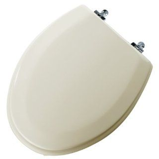 Mayfair 144CP 006 Classic Bone Molded Wood Toilet Seat with Chrome