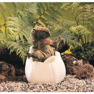 Folkmanis Puppets 2061   Dinosaurierbaby im Ei Spielzeug