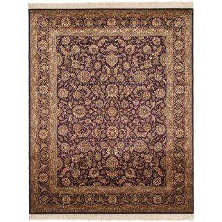 Asian Hand knotted Royal Kerman Purple Wool Rug (5 x 7)