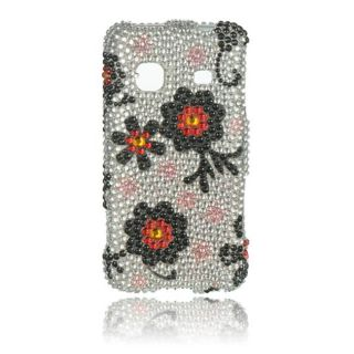 Luxmo Black Daisy Rhinestone Protector Case for Samsung Galaxy Prevail