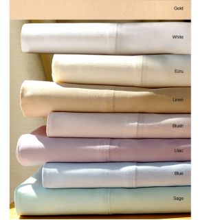 Egyptian Cotton 440 tc Sateen Solid Sheet Set (Queen/Soft Gold