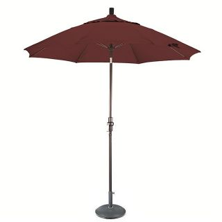 Lauren & Co 9 foot Terracotta Fiberglass Umbrella with Collar Tilt