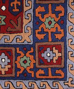 Bokhara Style Kilim Chain stitched Rug 4 x 6 (Kashmir)