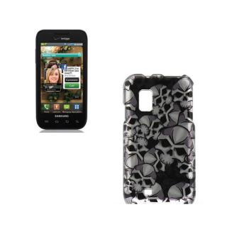 Premium Samsung Fascinate i500 Black Skull Protector Case