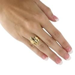 Toscana Collection 18k Goldplated Triple Cross Ring