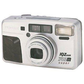 Pentax IQ Zoom 145 M Super Quartz Date 35mm Camera (wood
