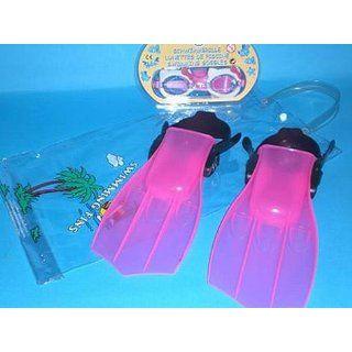 Schwimmset Hello Kitty Flosse und Brille Liefermenge  1