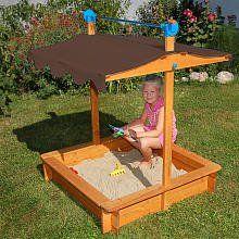 Gaspo 310436   Sandkasten Felix mit Dachlift Spielzeug