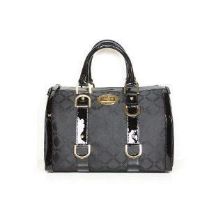 Versace Handbags Black Canvas and Leather DBFD145
