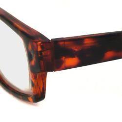 Urban Eyes Mens Shiny Tortoise Reading Glasses