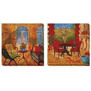 Cecile Broz Sunroom with Narcissus Oversized Canvas Art Set Today $