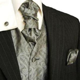 Paul Malone Hochzeitsweste Set 5tlg silber grau paisley