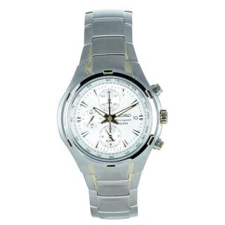 Seiko Mens Chronograph Multifunction Stainless Steel Watch