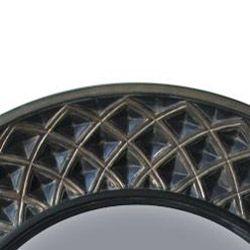 Round Rustic Silver black Mirror