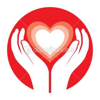 Hands holding heart  Stock Vector © venimo #1472813