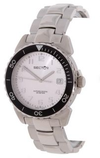 Sector 450 Date Stainless Steel Silver Dial Watch