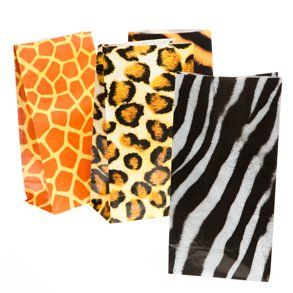 Animal Print Treat Bags: Toys & Games
