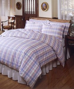 Lisbon Plaid 180tc Yarn dyed Duvet Cover Set (Full/Queen)