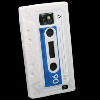 White Cassette Silicone Skin Case For Samsung Galaxy S2