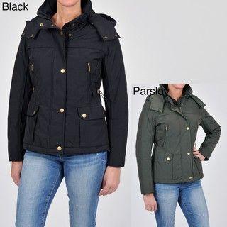 Weatherproof Womens Jacket with Detachable Hood