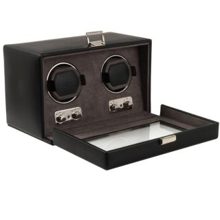 Wolf Designs Double Watch Winder with Cover