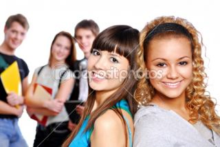 Cute clever girls  Stock Photo © Vitaly Valua #1478620