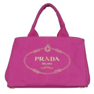 Prada Pink Canvas Tote Bag