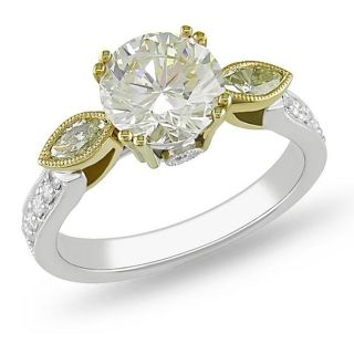 18k Gold 2 1/10ct TDW Certified Diamond Engagement Ring (G H, SI1 SI2