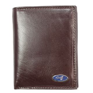 Yacht Mens Brown Leather Tri fold Wallet