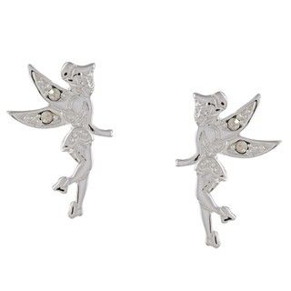 Disneys Tinkerbell Sterling Silver AB Cubic Zirconia Earrings