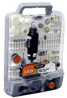 Chicago Power Tools 63516 149 piece Mini Rotary Tool Set