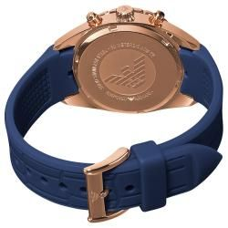 Emporio Armani Sport Womens Blue Silicone Watch