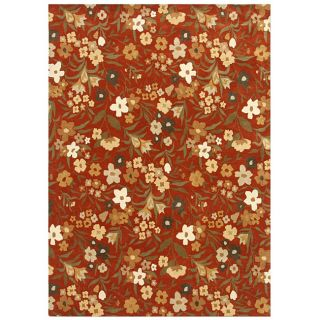 Hand tufted Red/ Green Wool Rug (8 x 10)