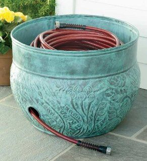150 ft. Galvanized Steel Hose Pot Storage Container Patio