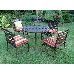 Santa Fe Nailhead 5 piece Iron Dining Set