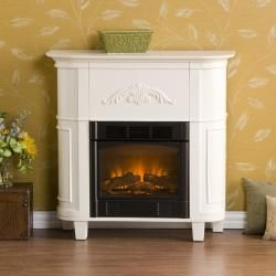 Connor Ivory Petite Electric Fireplace