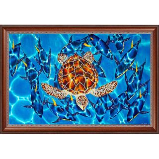 Daniel Jean Baptiste Hawksbill Sea Turtle Framed Canvas Art