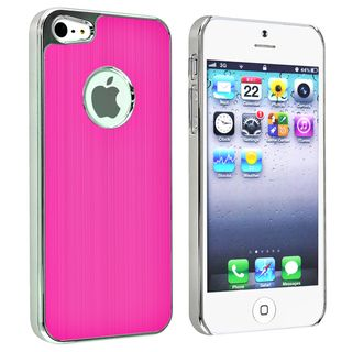 BasAcc Hot Pink Brushed Chrome Aluminum Rear Case for Apple iPhone 5